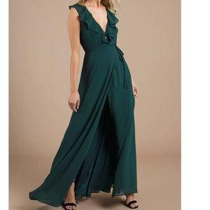 Tobi Emerald Green Tie Dress